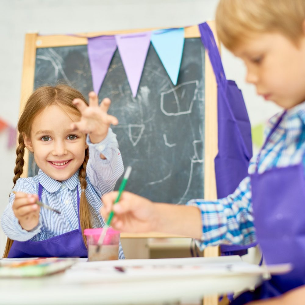Children Enjoying Art Class of Development School
